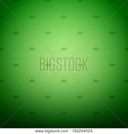 Vintage ornament green background wallpaper. Ready for your design. Vector Illustration.