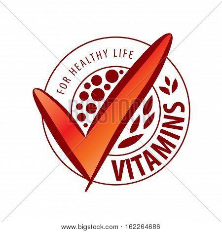 template design logo vitamins. Vector illustration of icon