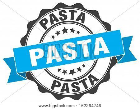 pasta. stamp. sign. seal. round. retro. ribbon