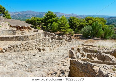 Archaeological site of Phaistos. Crete Greece EU