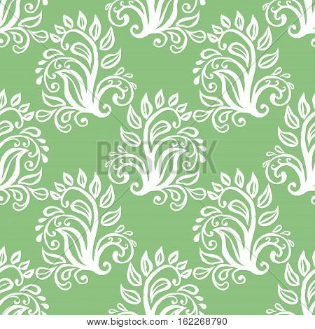 Seamless pattern with floral ornamental ethnic decorative elements