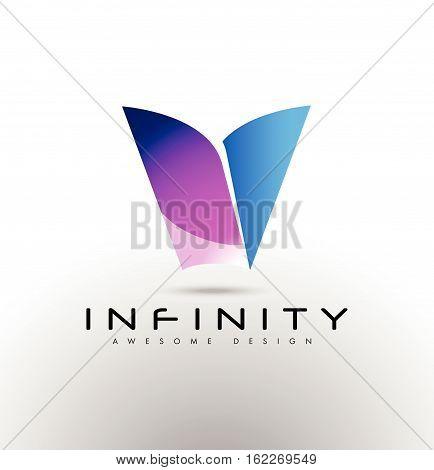 Letter V Logo. V Icon. Business Letter V Vector