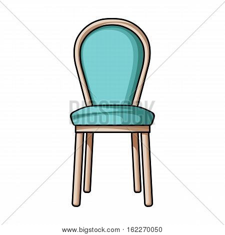 Classical chair icon in cartoon style isolated on white background. Furniture and home interior symbol vector illustration.