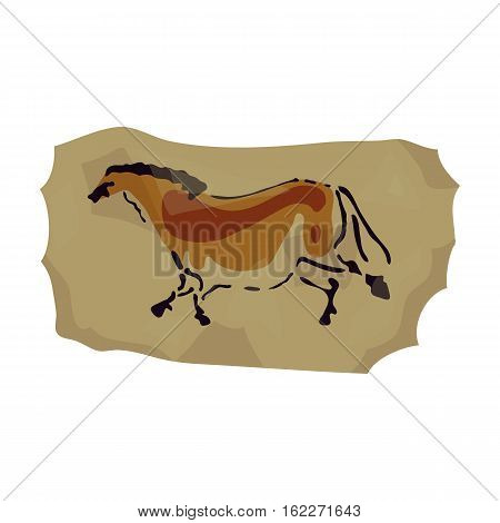 Cave painting icon in cartoon style isolated on white background. Stone age symbol vector illustration.