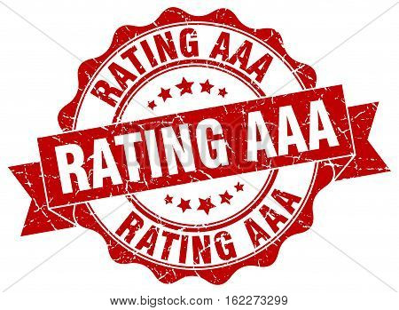 rating aaa. stamp. sign. seal. round. retro. ribbon
