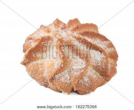 Traditional Holiday Shortbread Isolated On White Background.