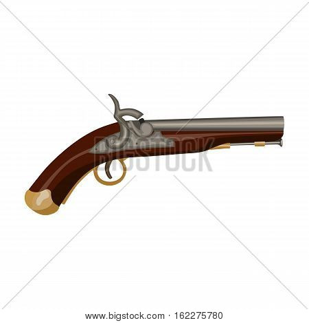 Pistol icon in cartoon style isolated on white background. England country symbol vector illustration.