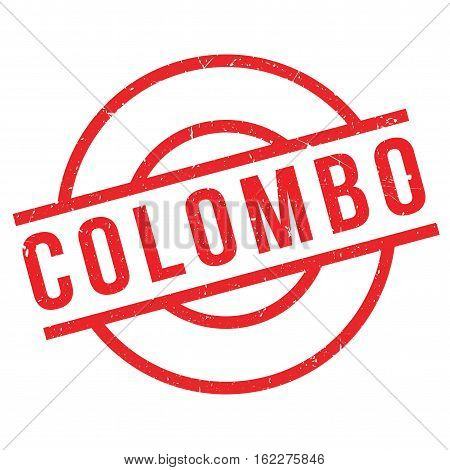 Colombo rubber stamp. Grunge design with dust scratches. Effects can be easily removed for a clean, crisp look. Color is easily changed.