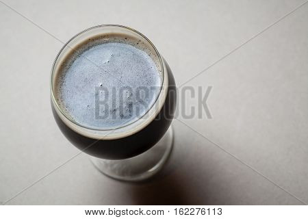 Imperial Stout On Gray