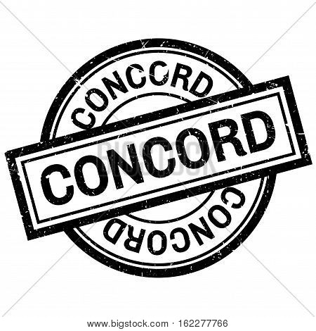 Concord rubber stamp. Grunge design with dust scratches. Effects can be easily removed for a clean, crisp look. Color is easily changed.