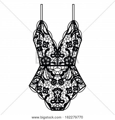 Collection of lingerie. Body set. Vector illustrations
