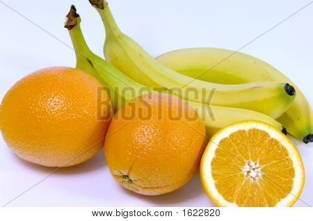 Orange And Bannanas
