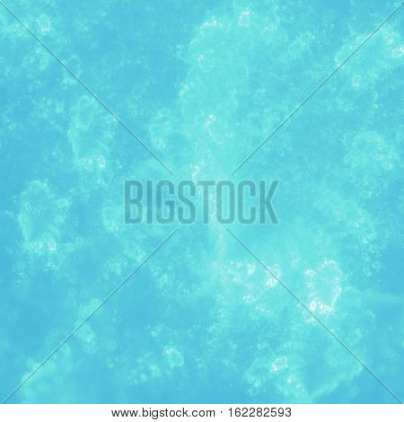 Fantasy blue turquoise white clouds or undersea flow
