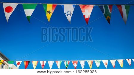 In South Africa      Decorative  Waving Flags