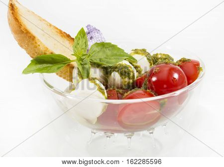 Tomato and cheese Restaurant Salad Slice Spring