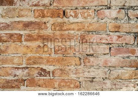 A brick is a block or a single unit of a kneaded clay-bearing soil sand and lime or concrete material fire hardened or air dried used in masonry construction.