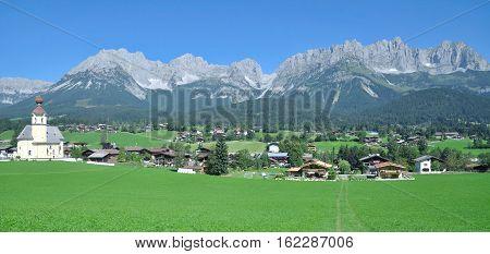 idyllic Village of Going am Wilden Kaiser in Tirol,Alps,Austria