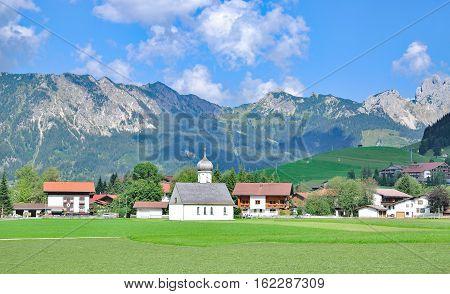 Village of Tannheim in Tannheimer Tal in Tirol,Alps,Austria