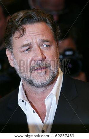 Russell Crowe attends 'The Nice Guys' premiere during the 69th annual Cannes Film Festival at the Palais des Festivals on May 15, 2016 in Cannes, France.