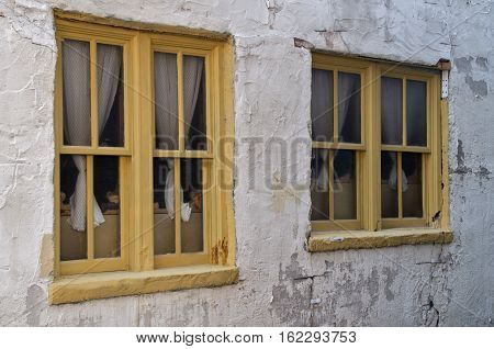 Windows in a Historic building in Wilmington North Carolina