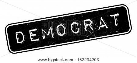 Democrat rubber stamp. Grunge design with dust scratches. Effects can be easily removed for a clean, crisp look. Color is easily changed.