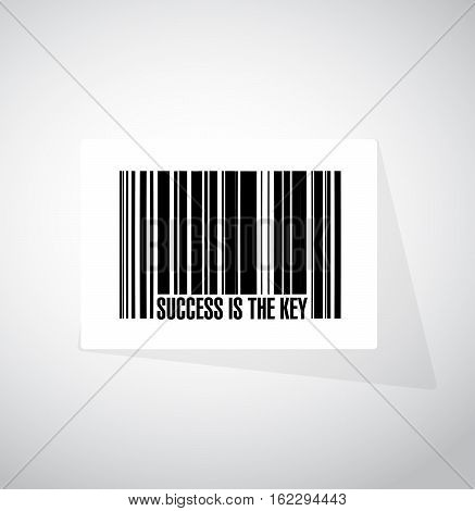 Success Is The Key Barcode Sign Concept