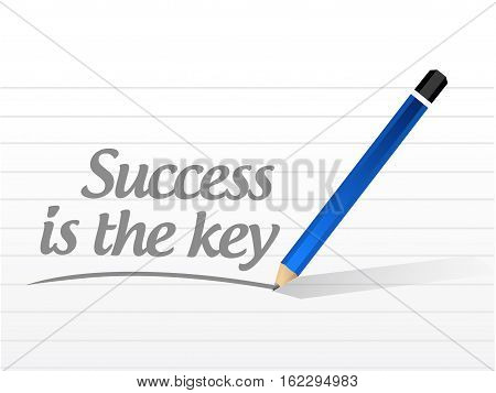Success Is The Key Message Sign Concept