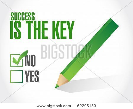 No Success Is The Key Approval Sign Concept