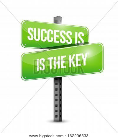 Success Is The Key Street Sign Concept