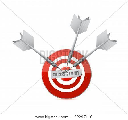 Success Is The Key Target Sign Concept