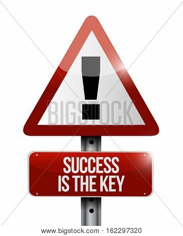 Success Is The Key Warning Road Sign Concept