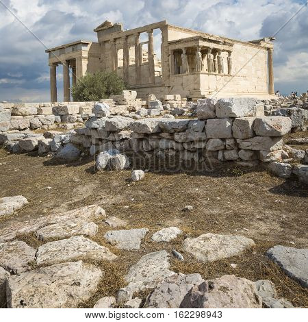 Athens - Greece - September 21,2016 : Parthenon Temple On The Acropolis Of Athens,greece