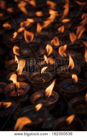 Candles In Swayambhunath