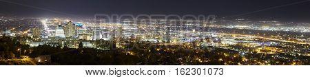 Salt Lake City Panoramic Picture, Utah, Usa