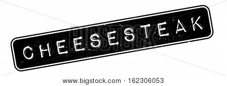 Cheesesteak rubber stamp. Grunge design with dust scratches. Effects can be easily removed for a clean, crisp look. Color is easily changed.