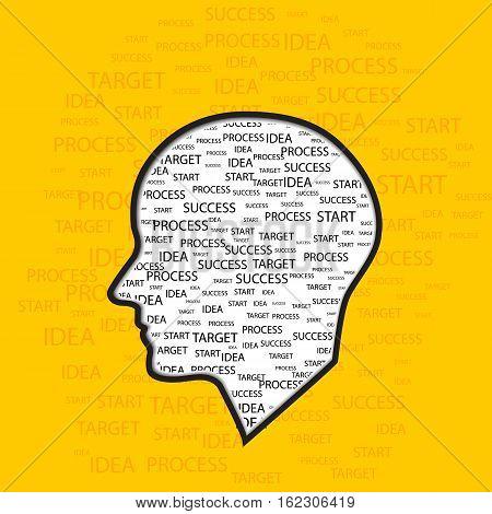 Brain Creative mind learning and design idea brain creation illustration
