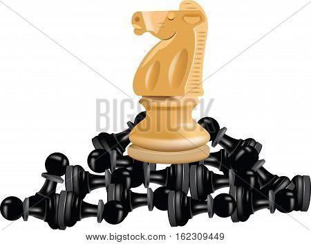 checkmate horse on blacks pedestrians checkmate horse on blacks pedestrians