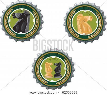 beer cap with horse image beer cap with