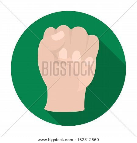 Boxing fist icon in flat style isolated on white background. Boxing symbol vector illustration.