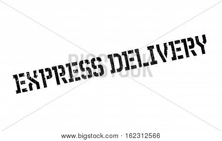Express delivery stamp. Grunge design with dust scratches. Effects can be easily removed for a clean, crisp look. Color is easily changed.