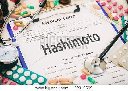 Medical Form, Diagnosis Hashimoto Thyroiditis