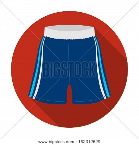 Boxing shorts icon in flat style isolated on white background. Boxing symbol vector illustration.