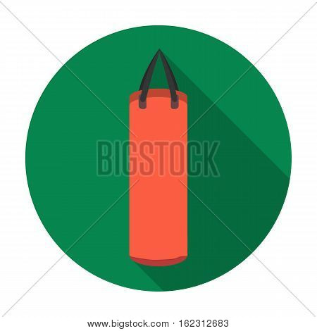 Boxing punching bag icon in flat style isolated on white background. Boxing symbol vector illustration.