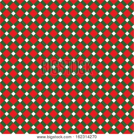 Seamless Christmas Check Pattern. Ideal for wrapping paper.
