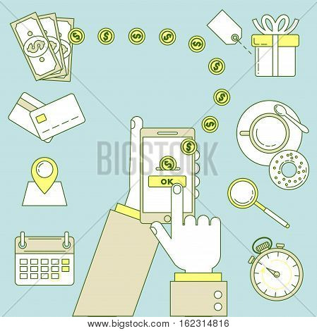 Mobile Payment Illustration.