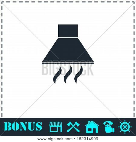 Extractor hood icon flat. Simple vector symbol and bonus icon