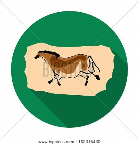 Cave painting icon in flat style isolated on white background. Stone age symbol vector illustration.