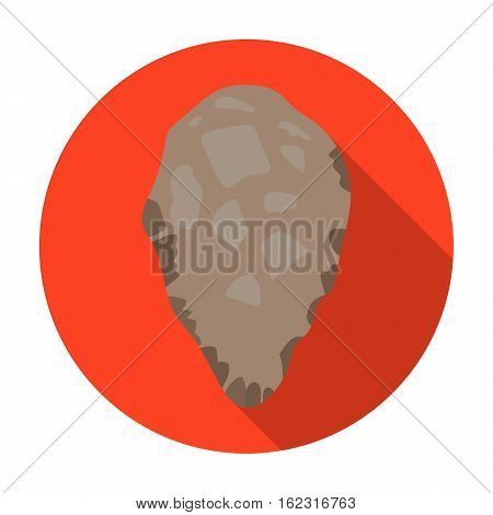 Stone tool icon in flat style isolated on white background. Stone age symbol vector illustration.
