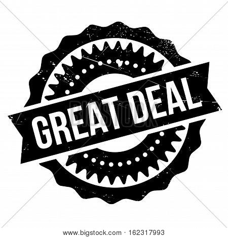 Great deal stamp. Grunge design with dust scratches. Effects can be easily removed for a clean, crisp look. Color is easily changed.