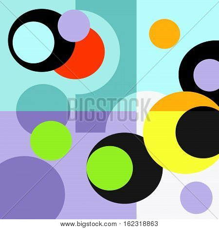 Retro transparent shapes background rainbow, fashion, style